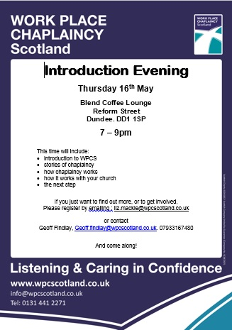 Dundee Intro Evening Poster